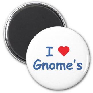 I Love Gnome's 2 Inch Round Magnet