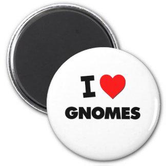 I Love Gnomes Fridge Magnets