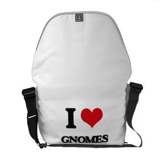 I love Gnomes Courier Bag