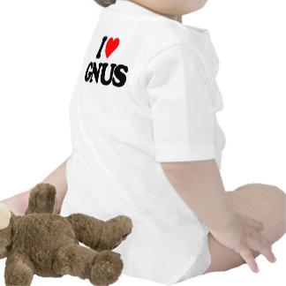 I LOVE GNUS BABY BODYSUITS
