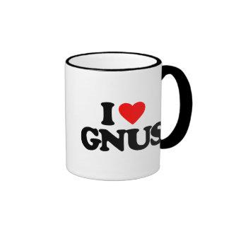I LOVE GNUS COFFEE MUGS