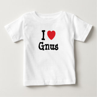 I love Gnus heart custom personalized T Shirt
