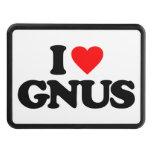 I LOVE GNUS TRAILER HITCH COVERS