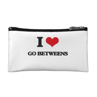 I love Go Betweens Cosmetics Bags