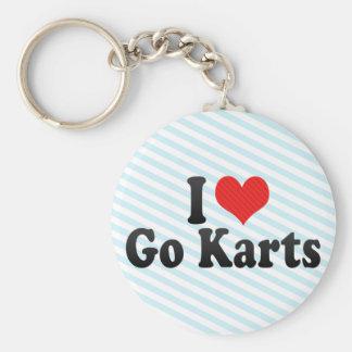 I Love Go Karts Keychain