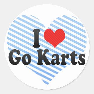 I Love Go Karts Round Sticker