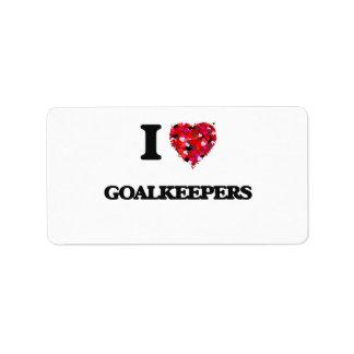 I Love Goalkeepers Address Label