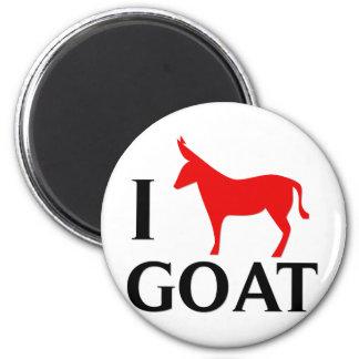 I Love Goat 2 Inch Round Magnet