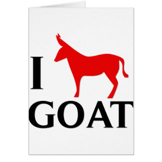 I Love Goat Card