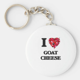 I love Goat Cheese Basic Round Button Keychain