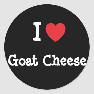I love Goat Cheese heart T-Shirt Stickers