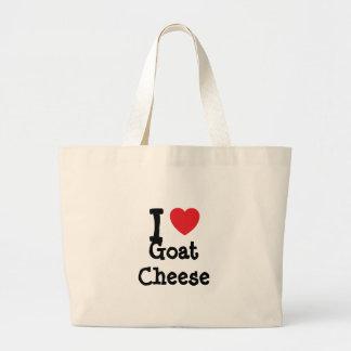 I love Goat Cheese heart T-Shirt Tote Bag