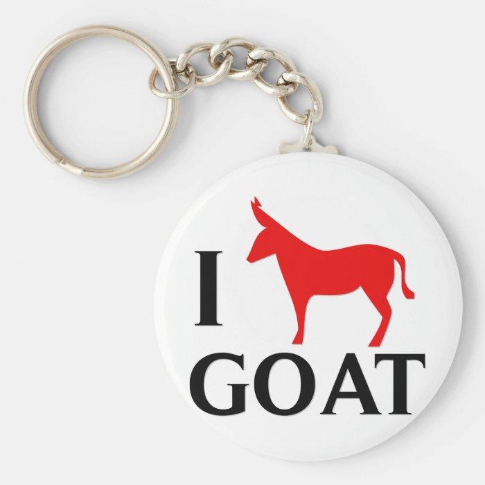 I Love Goat Keychain