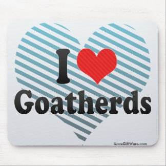 I Love Goatherds Mouse Pad