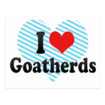 I Love Goatherds Post Cards