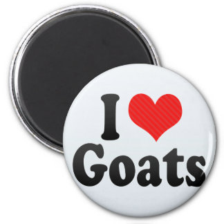 I Love Goats 2 Inch Round Magnet