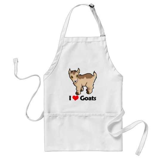 I Love Goats Adult Apron