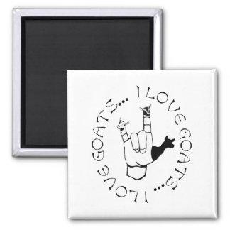 I Love Goats ASL Sign Language Hand Symbol Fridge Magnets