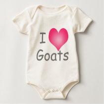 I Love Goats Baby Bodysuit