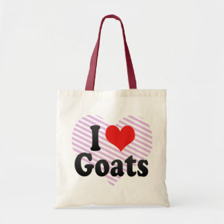 I Love Goats Budget Tote Bag