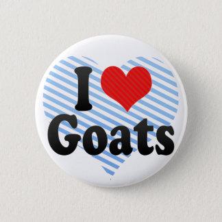 I Love Goats Button