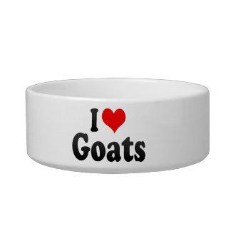 I love Goats Cat Bowl