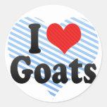I Love Goats Classic Round Sticker