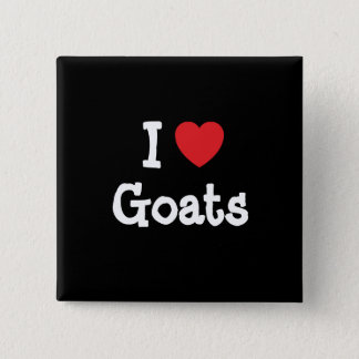 I love Goats heart custom personalized Button