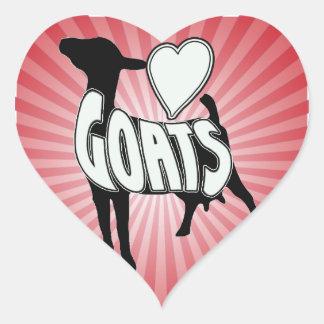 I LOVE GOATS LOGO ICON HEART STICKER