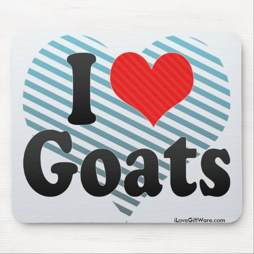 I Love Goats Mouse Pad