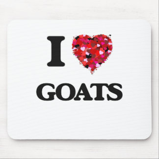I Love Goats Mouse Pad