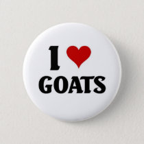 I love goats pinback button
