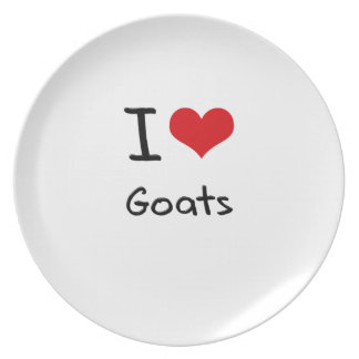 I Love Goats Party Plates