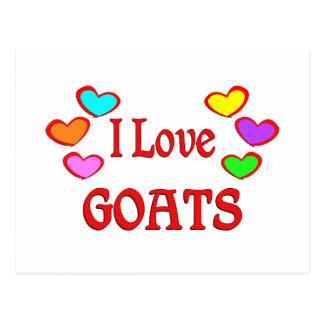 I Love Goats Postcard
