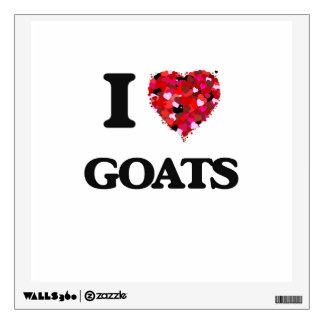 I Love Goats Room Sticker