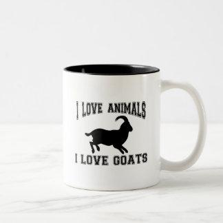 I love Goats Two-Tone Coffee Mug
