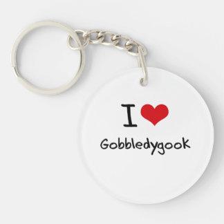 I Love Gobbledygook Key Chain