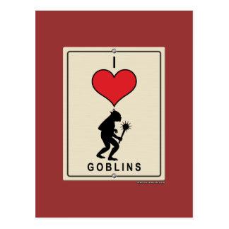 I Love Goblins Postcard
