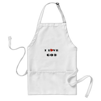 I Love God Adult Apron
