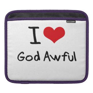 I Love God Awful iPad Sleeves