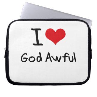 I Love God Awful Laptop Sleeve