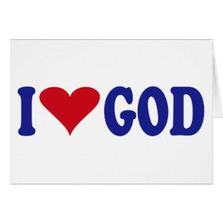 I Love God Card