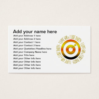 I love God & I like darts Business Card