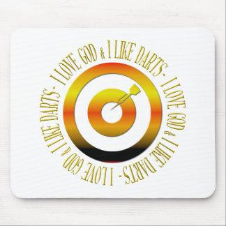 I love God & I like darts Mouse Pad