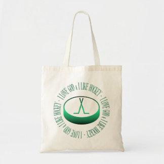 I love God & I like hockey Tote Bag