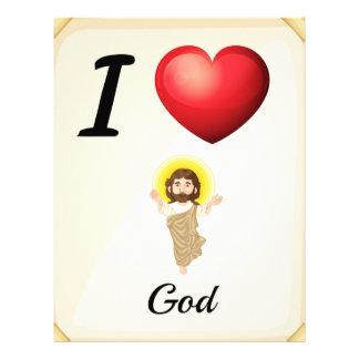 I love God Letterhead