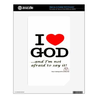 I Love God NOOK Color Skins
