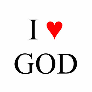 I Love God Photo Cut Outs
