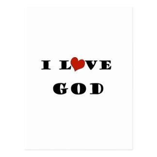 I Love God Postcard