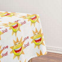 I Love God (suns) Tablecloth